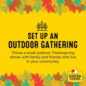 virtual thanksgiving: set up an outdoor gathering