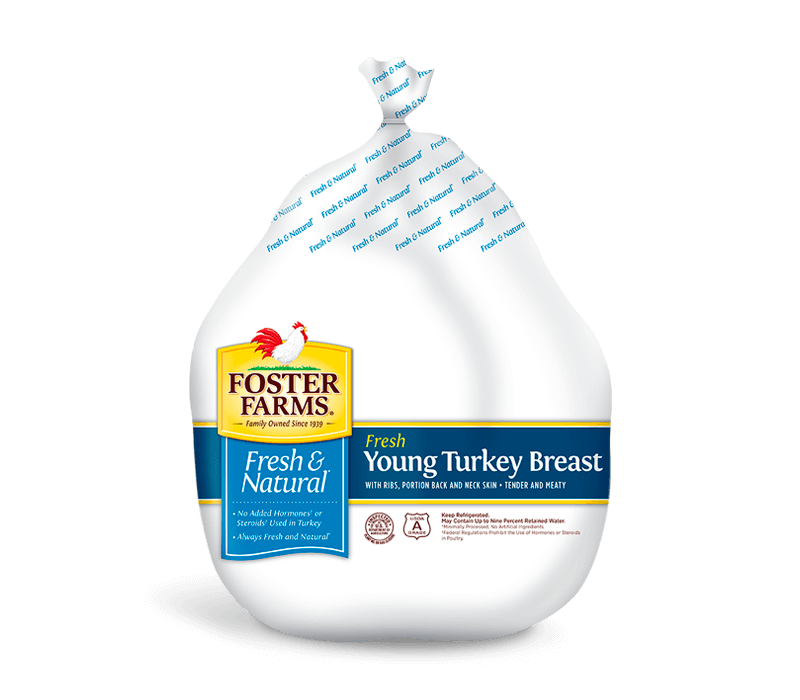 Young Whole Turkey Breast