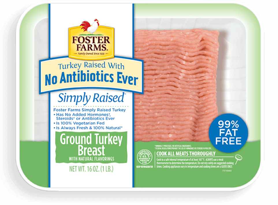 Ground Turkey Breast with No Antibiotics Ever - Extra Lean