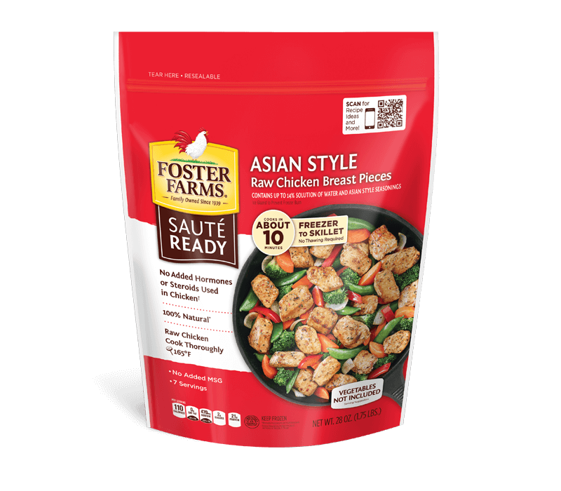 Saute Ready Asian Style Marinated Chicken Breast Pieces