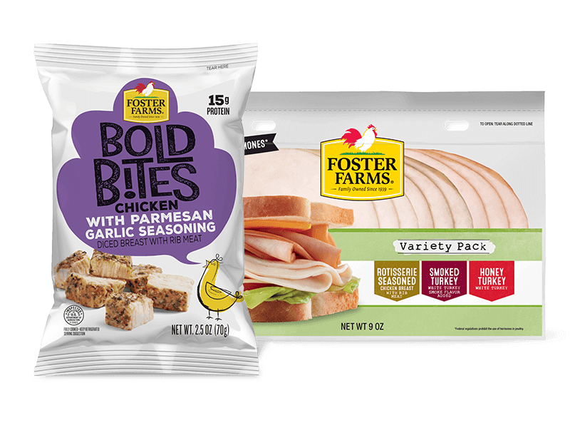 Bold Bites Chicken with Parmesan, and a Deli Variety Pack - Foster Farms