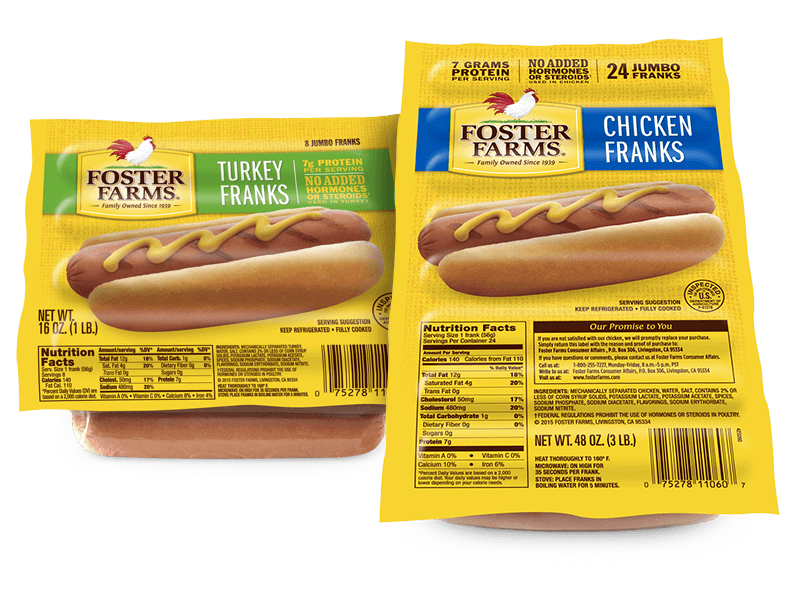 Chicken Franks and Turkey Franks - Foster Farms
