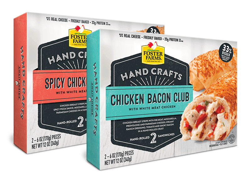 Chicken Bacon Club and Spicy Chicken Pizza Sandwiches - Foster Farms