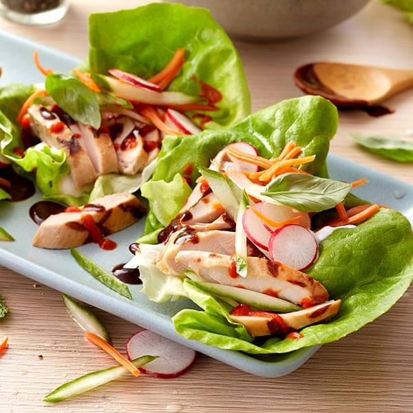 Chicken Thigh Banh Mi-Style Lettuce Wraps