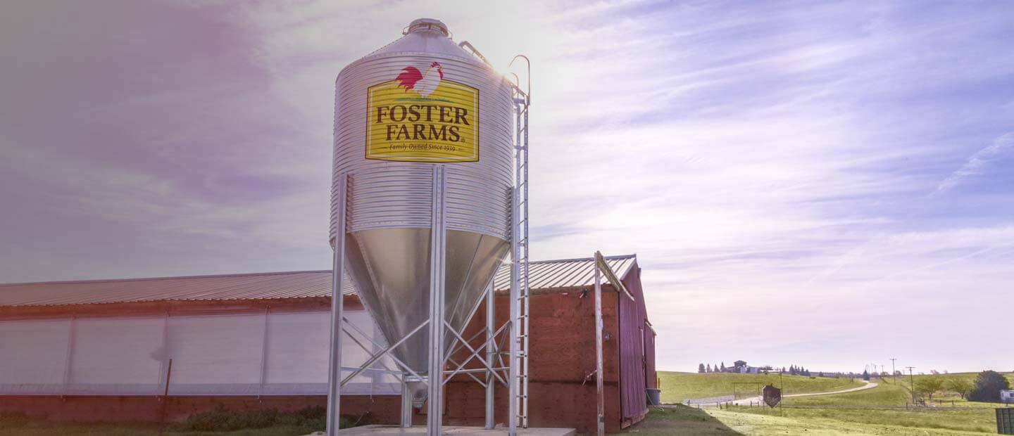 Water tower on a farm - Foster Farms