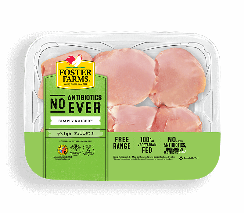 Boneless Skinless Thigh Fillets with No Antibiotics Ever